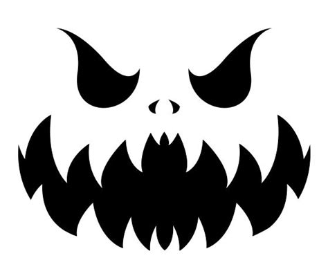 evil pumpkin template this evil pumpkin stencil and other free