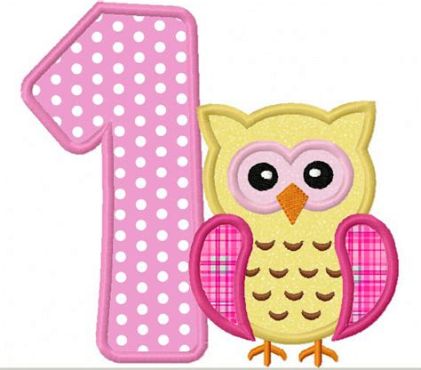 printable owl applique instant download owl birthday numbers font applique