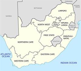 Map South Africa by South Africa S Geography
