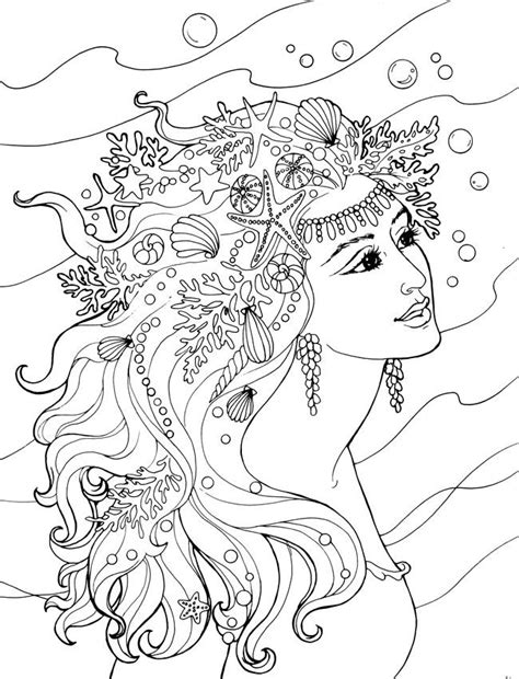 mermaid coloring pages for adults mermaid coloring pages adults