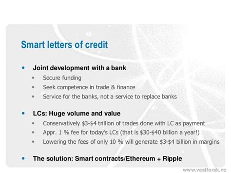 Letter Of Credit Margin Smart Letters Of Credit