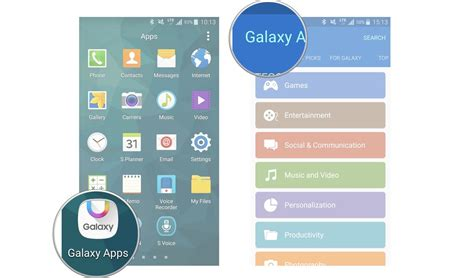 themes store app samsung how to download and update apps through galaxy apps on