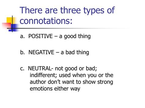 neutral connotation ppt connotation vs denotation powerpoint presentation id 247408