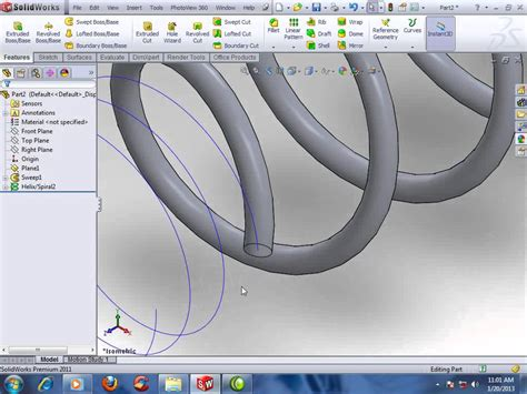 Solidworks Tutorial Helix | solidworks tutorial spring with helix and spiral swept
