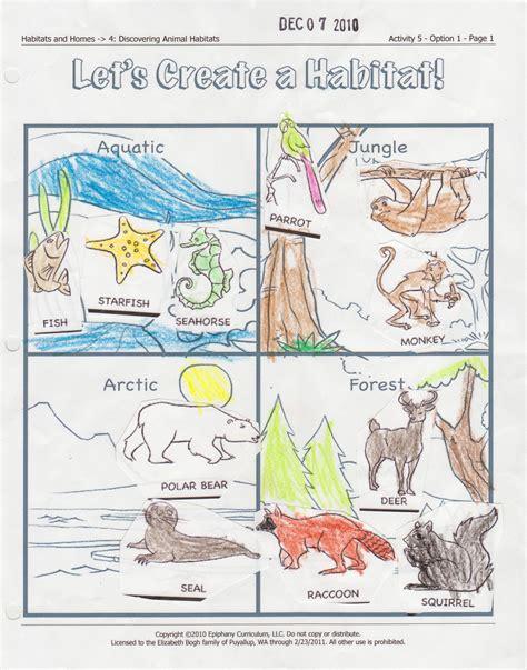 printable worksheets about animal habitats free habitats worksheets coloring pages