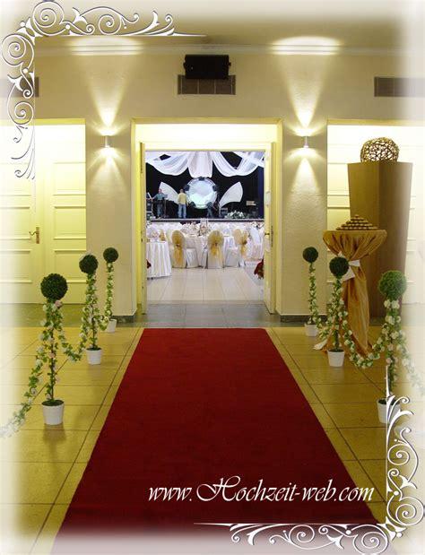 Roter Teppich Hochzeit