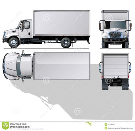 Vector Hi detailed Commercial Truck Royalty Free Stock