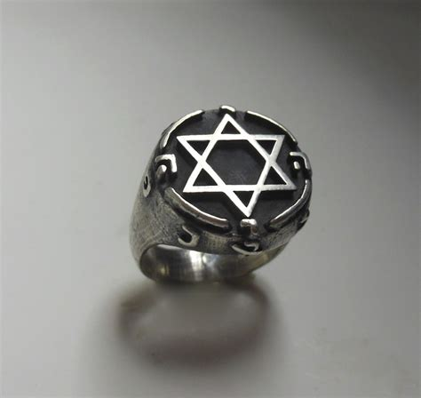 illuminati ring king solomon magic ring silver 925 biker skull cabala