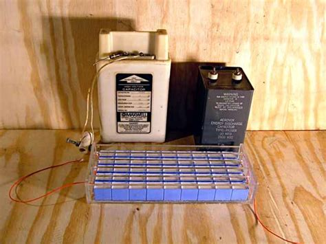 capacitor storage of energy high voltage