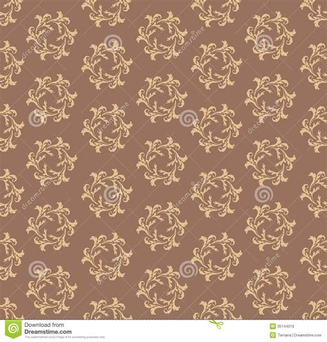 abstract seamless floral pattern background free vector floral seamless background abstract brown and whit stock