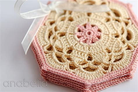 Crochet Set sewing for crochet coasters sets a diy gift