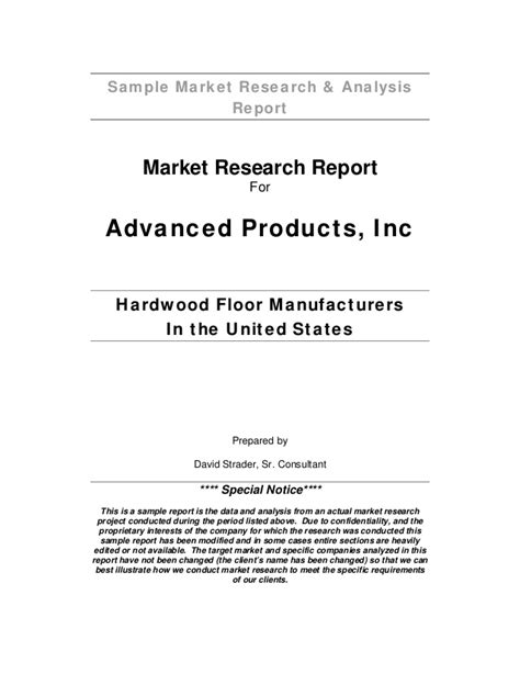 layout of a market research report sle market research analysis