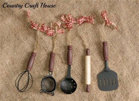 primitive retro diner country kitchen utensil ornaments