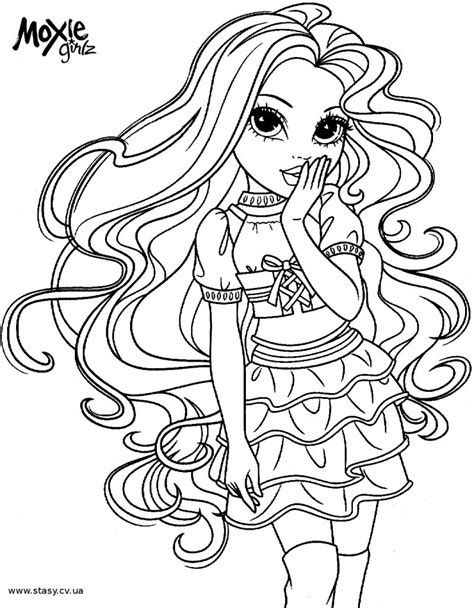 moxie girlz coloring pages photo 4 moxie girls