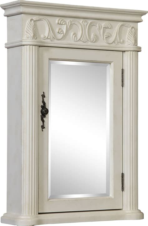 "21"" Tuscany Antique White Medicine Cabinet   Antique"