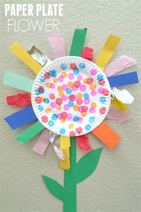 Paper Craft For Kindergarten - paper plate flower motor craft flower craft and