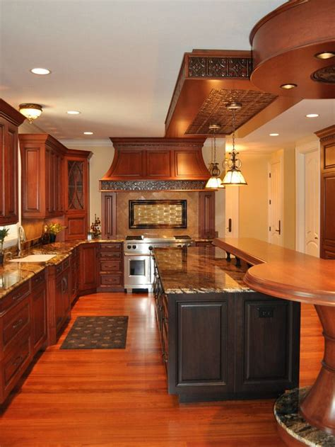 granite kitchen makeovers kitchen makeover with cherry cabinets coffee color