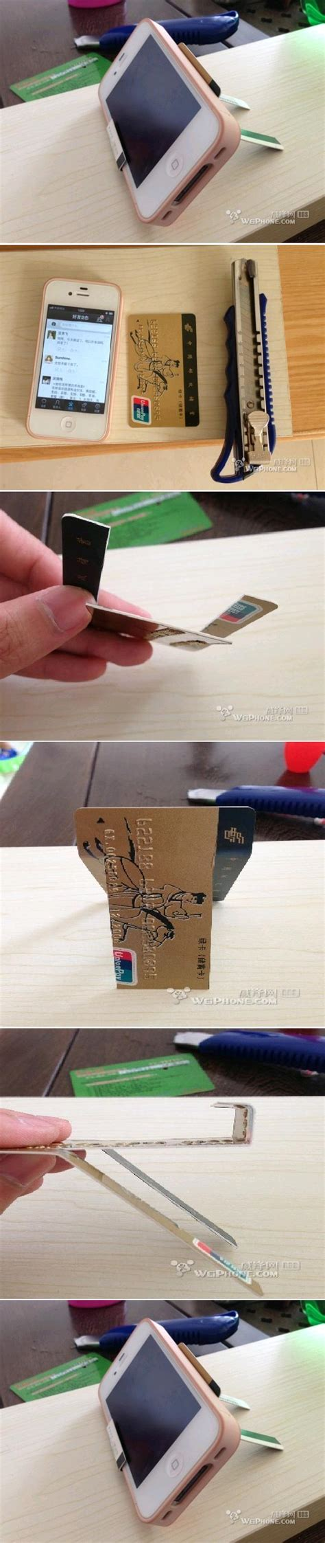 credit card iphone stand template diy credit card iphone stand diy projects usefuldiy