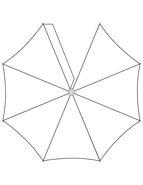 umbrella template umbrella top template free to use paper dolls