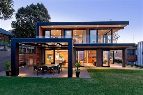 how tall is a two story house two faced this modern home has two sides to its architectural story this marvellous home that