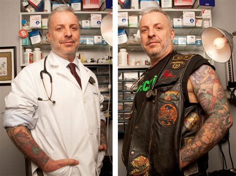 doctors with tattoos for dr david ores tats not all folks crain s new york
