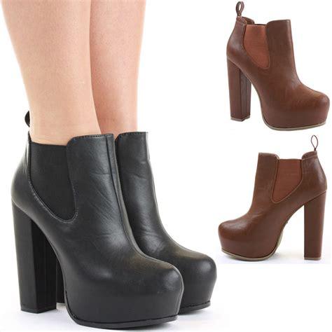 booties high heel block shoes heeled booties high heel platform