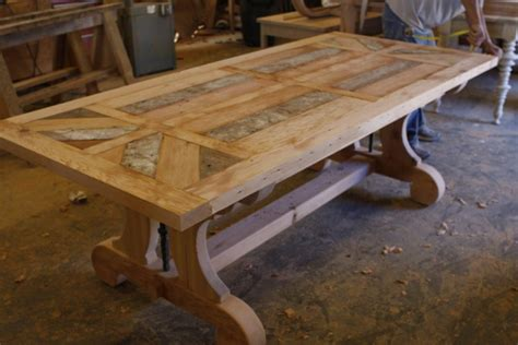 Reclaimed Dining Room Table Building A Reclaimed Wood Table Top Woodworking Projects
