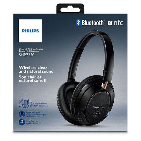 Philips Headphone For Laptoppc With Microphone philips shb7250 bluetooth nfc wireless headphones headset mic for mac pc laptop ebay