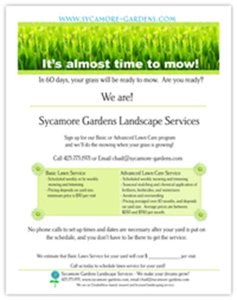 landscape flyer templates design plan free landscape design web template