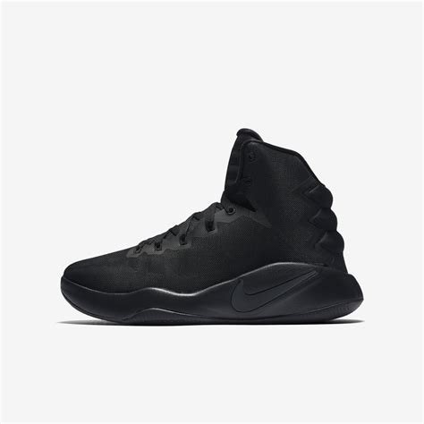 nike hyperfuse 2017 basketball shoes black silver