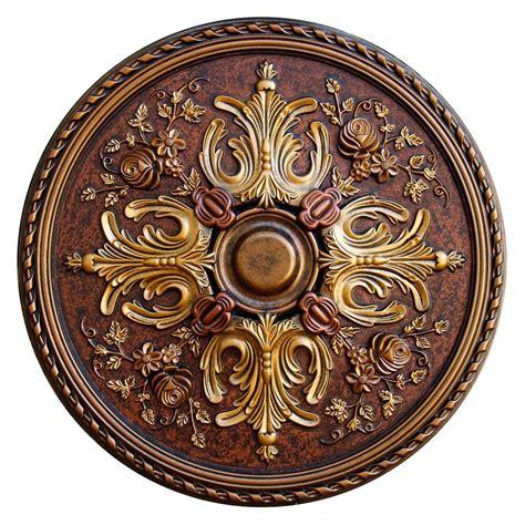 fine art deco 32 3 4 in floral desire bronze gold