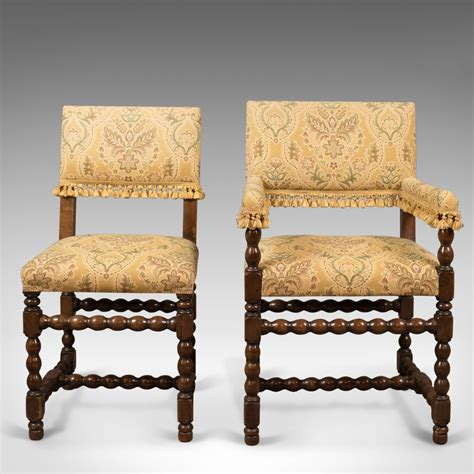 Set 6 Dining Chairs Set Of 6 Antique Dining Chairs Edwardian Jacobean Antiques Atlas