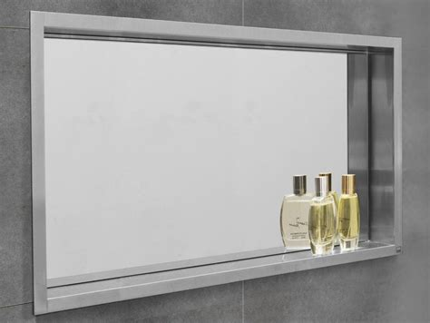 specchio con mensola per bagno mensola bagno in acciaio inox container box nicchia con
