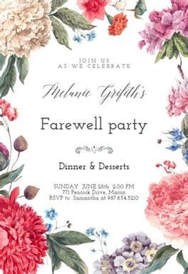Garden glory   Free Retirement & Farewell Party Invitation