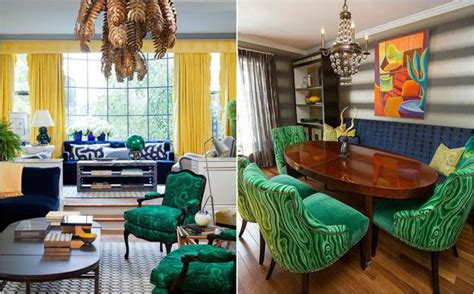 malachite green colors  modern decor ideas