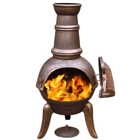 Wood Burning Clay Chiminea Cast Iron Chimenea Patio Heater Barbeque Pit Wood