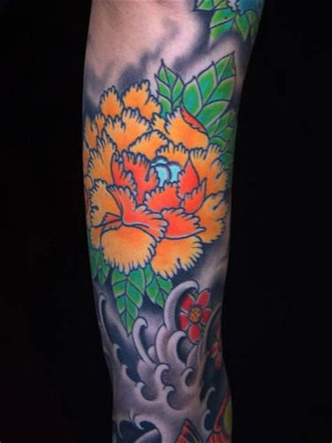 tattoo flower asian japanese flower tattoo