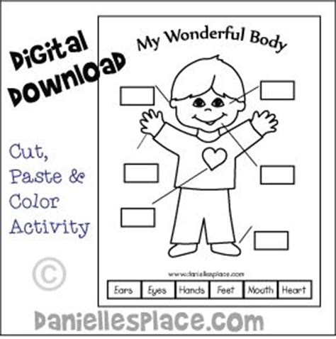 Colours Activity Learning Act Funlrn Col my wonderful printable cut paste and color activity sheet from www daniellesplace