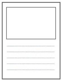 story writing template write and draw lined paper with space for story