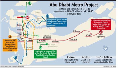 road map us embassy abu dhabi abu dhabi metro an infographic abu dhabi information