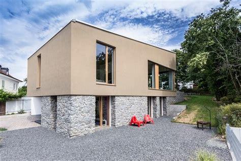 moderne fassadenfarbe fassadengestaltung einfamilienhaus gr 252 n harzite