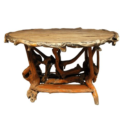 rustic tables rustic twig center table at 1stdibs
