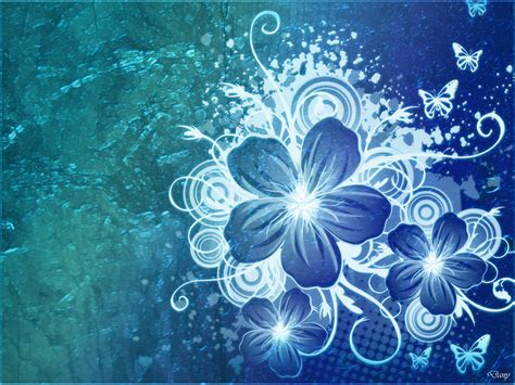 wallpaper blue flowers design blue flower wallpaper cynthia selahblue cynti19