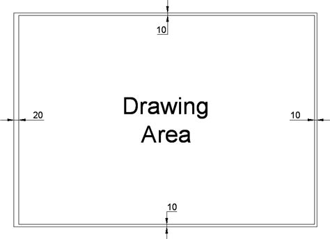 engineering drawing frame border size