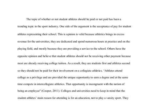 Should Ncaa Athletes Get Paid Essay by College Athletes Should Be Paid Essay Fys Essay Ayucar