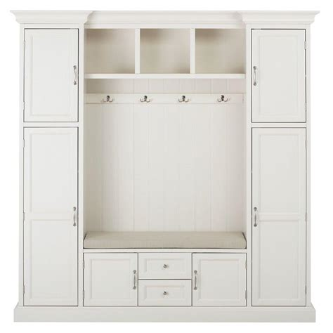 mudroom cabinets home depot home decorators collection royce 4 hook contemporary wood