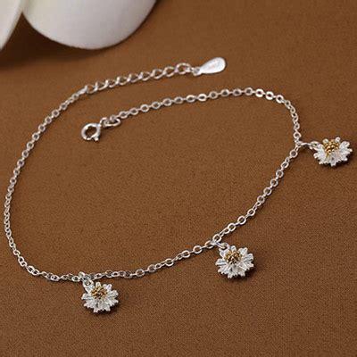 Gelang Korea Flower Decorated Simple Design fabulous silver color flower shape decorated simple design