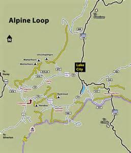 alpine loop colorado map ouray silverton lake city colorado