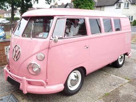 pink volkswagen van the volkswagen bus photo gallery