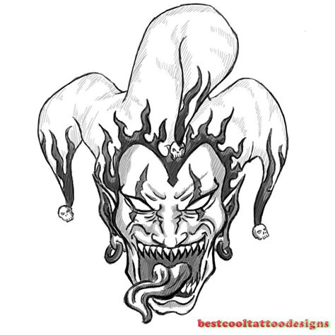 clown joker tattoo designs best cool tattoo designs
